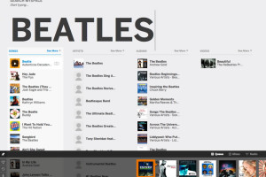 Searching for The Beatles on new.myspace.com