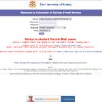 University of Sydney Phishing page
