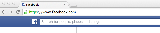 Step 1- Facebook URL Bar