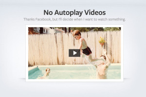 Thumbnail Disable autoplay videos on Facebook in Google Chrome